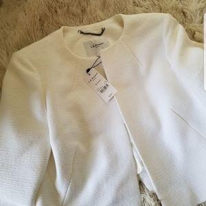 LK Bennett Amola Bolero blazer jacket white 10